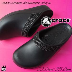 クロックス crocs スローングディアマンテクロッグウィメン クロッグサンダル レディース ビジュー サボサンダル 黒 ブラック 205307|smw