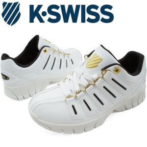 ケースイス K-SWISS メンズ レディース スニーカー KSL02 ローカット エバー 定番 ホワイト/ダークブラウン/ゴールド|smw