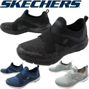 スケッチャーズ SKECHERS レディース スリッポン 13065 ブラック ネイビー グレー|smw