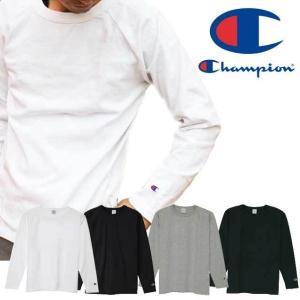 チャンピオン Champion メンズ ラグラン ロングスリーブ Tシャツ C5-Y401 T1011 トップス 010 ホワイト 090 ブラック 370 ネイビー 070 MADE IN USA|smw