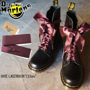 メール便可 ドクターマーチン リボンシューレース 210cm 靴紐 靴ひも 靴ヒモ サテン 10ホールブーツ 14ホールブーツ ボルドー 赤 レッド 平ヒモ 平紐|smw