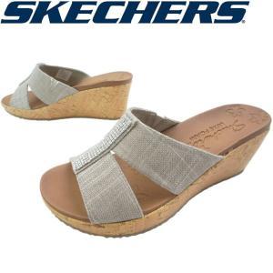 スケッチャーズ SKECHERS レディース ウエッジソール サンダル 31721 トープ|smw