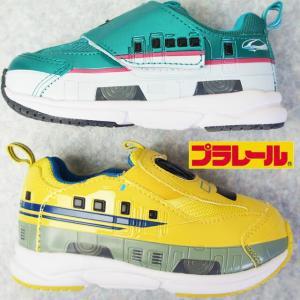 トミカ プラレール キッズ 男の子 スニーカー 16096 はやぶさ 16099 ドクターイエロー 新幹線 ベルクロ スリッポン 靴|smw