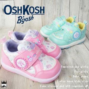 オシュコシュ OSHKOSH ベビー キッズ スニーカー OSK B412 女の子 子供靴 チャイルド ベルクロ マジック シューズ コスメ ピンク ミント キルティング 通園|smw