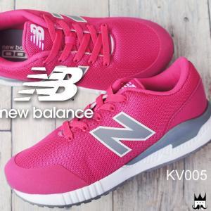ニューバランス new balance キッズ ジュニア スリッポン スニーカー KV005 PWY ピンク 女の子 子供靴 ローカット NB|smw