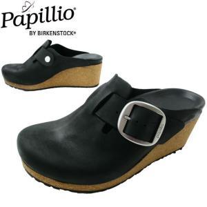 ビルケンシュトック パピリオ サボサンダル レディース 革靴 ウエッジソール 厚底サンダル コンフォ...