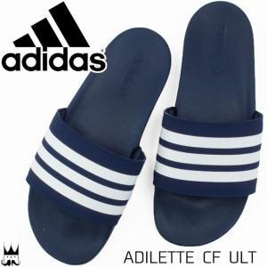 アディダス adidas メンズ レディース サンダル B42114 ダークブルー シャワーサンダル|smw