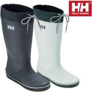 ヘリーハンセン HELLY HANSEN メンズ レインブーツ ヘリーデッキブーツ HF91670 ブルー ホワイト 長靴|smw