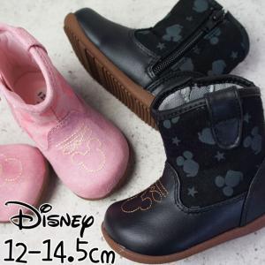 ディズニー Disney ベビー キッズ ブーツ DN B1151 男の子 女の子 ウエスタンブーツ ミッキーマウス ブラック ピンク ムーンスター|smw