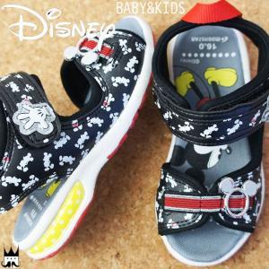 ディズニー Disney 男の子 サンダル キッズ ベビー ミッキーマウス DN C1212 ブラック 黒|smw