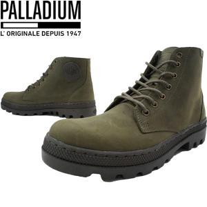 パラディウム PALLADIUM メンズ 05525 パラボスミッド 本革 377 カーキ 740 茶|smw