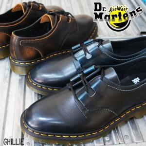 ドクターマーチン 3ホールシューズ メンズ 1461 ギリ― ブラウン ブルー ビジネスシューズ オックスフォードシューズ 3アイレット 3eye 革靴|smw