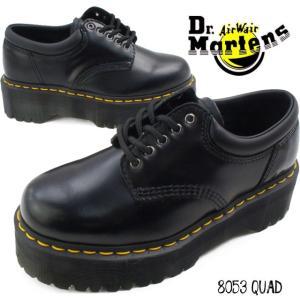 ドクターマーチン 5ホールシューズ レディース 8053 QUAD 24690001 黒 ブラック 厚底 プラットフォーム オックスフォードシューズ タイシューズ|smw