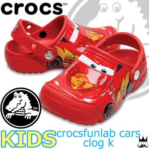 クロックス ×カーズ crocs キッズ 男の子 サンダル 204116-8C1 ファンラブ カーズ クロッグ K ライトニング・マックイーン|smw