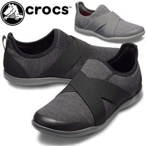 クロックス crocs  205346 レディース スリッポン スニーカー ■商品説明 0DD bl...