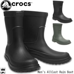 クロックス crocs メンズ レインブーツ 204862 長靴 レイン ブーツ ハーフ丈 雨 雪 ...