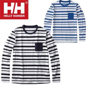 ヘリーハンセン HELLY HANSEN メンズ ラッシュガード 長袖 トップス HE81720 ロングスリーブボーダーフレックスラッシュガード ボーダー UVカット|smw