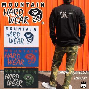 マウンテンハードウェア MOUNTAIN HARDWEAR メンズ Tシャツ MHW Logo L/ST OM4739 ロゴT 長袖 丸首 アパレル コットン100%|smw