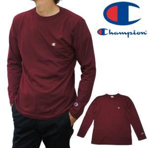 チャンピオン Champion アパレル メンズ C3-J424 ロングスリーブTシャツ ティーシャツ ベーシックチャンピオン 長袖 丸首 ロンティー ロンT トップス 綿 100%|smw