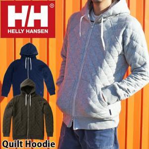ヘリーハンセン HELLY HANSEN メンズ アパレル HOE31860 キルトフーディー スウェット ジップ パーカ パーカー フード 長袖 アウター トップス|smw
