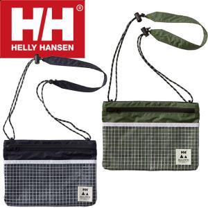 ヘリーハンセン HELLY HANSEN メンズ レディース バッグ HOY91760 ウォーターレジスタンスサコッシュ 防水 止水ジッパー 止水ファスナー キャンプ プール 海 白|smw