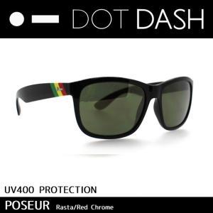 DOT DASH ドットダッシュ サングラス UVカット トイ サングラス POSEUR Rasta Red Chrome ac217d05-rta|snb-shop