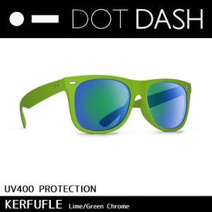 DOT DASH ドットダッシュ サングラス UVカット トイ サングラス KERFUFFLE Lime Green Chrome ae217d06-lim|snb-shop