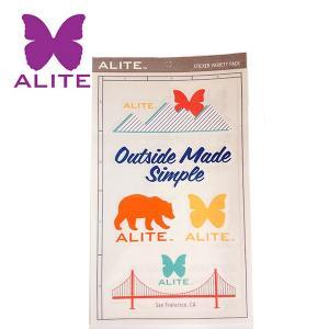 ALITE エーライト ステッカー ロゴ2 【アウトドア/キャンプ/ステッカー/シール/車/小物】|snb-shop