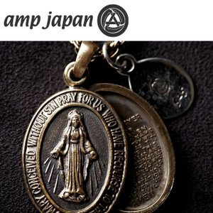 amp japan アンプジャパン ネックレス ブレスマリアロケットペンダント Brass Maria Locket Necklace 1AO-115S 【雑貨】メンズ|snb-shop