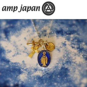 amp japan アンプジャパン グランドメダイユミラキュルーズミックスネックレス ブルーエポキシ Grand Medaille Miraculeuse Mix Necklace Blue Epoxy 16AHK-177|snb-shop
