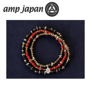 amp japan アンプジャパン Triple Part Long Beads Red トリプル パート ロング ビーズ HYHK-413RD 【アクセサリー/ブレスレット/腕輪/ビーズ】 snb-shop