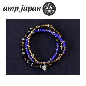 amp japan アンプジャパン Triple Part Long Beads Navy トリプル パート ロング ビーズ HYHK-413NV 【アクセサリー/ブレスレット/腕輪/ビーズ】 snb-shop