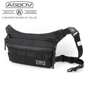 AS2OV アッソブ CORDURA DOBBY 305D FANNY PACK 061416-10 【アウトドア/肩掛け/首掛け/鞄】|snb-shop