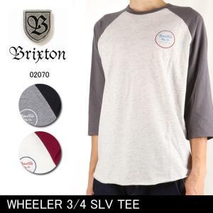 ブリクストン BRIXTON WHEELER 3/4 SLV TEE /02070 【服】 7分袖Tシャツ トップス|snb-shop