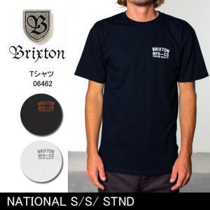 ブリクストン BRIXTON NATIONAL S/S/ STND /06462 【服】 Tシャツ Uネック|snb-shop