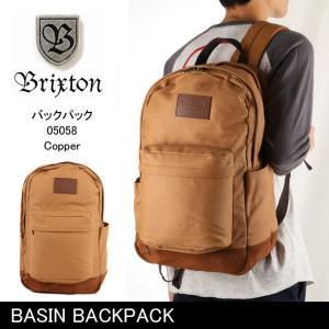 ブリクストン BRIXTON BASIN BACKPACK /05058 【カバン】 バックパック リュック 通学 通勤 デイリーユース|snb-shop