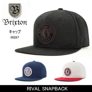 ブリクストン BRIXTON RIVAL SNAPBACK /00267 【帽子】 キャップ 帽子 ストリート アウトドア 秋冬物|snb-shop