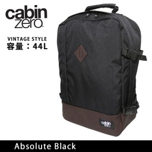 CABINZERO キャビンゼロ バックパック VINTAGE STYLE 44L Absolute Black CZ071201|snb-shop