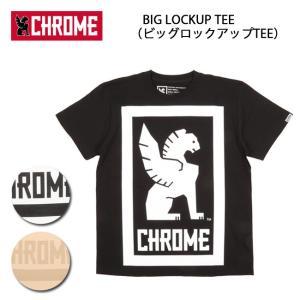 CHROME クローム Tシャツ BIG LOCKUP TEE(ビッグロックアップTEE) JP044 【服】【t-cnr】ファッション アウトドア フェス【メール便・代引不可】|snb-shop