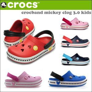 クロックス CROCSサンダル CROCBAND MICKEY CLOG 3.0 KIDS クロックバンド ミッキー クロッグ キッズ 国内正規品 crs-040|snb-shop