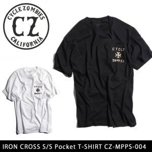 サイクルゾンビーズ CycleZombies Tシャツ IRON CROSS S/S Pocket T-SHIRT CZ-MPPS-004  【メール便・代引不可】|snb-shop