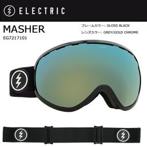 2018 ELECTRIC エレクトリック MASHER GLOSS BLACK GREY/GOLD CHROME JP EG7217101 【ゴーグル】アジアンフィット|snb-shop