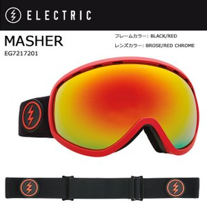 2018 ELECTRIC エレクトリック MASHER BLACK/RED BROSE/RED CHROME CONTRAST EG7217201 【ゴーグル】アジアンフィット|snb-shop