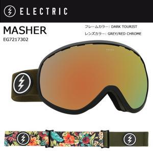 2018 ELECTRIC エレクトリック MASHER DARK TOURIST GREY/RED CHROME JP EG7217302 【ゴーグル】アジアンフィット|snb-shop