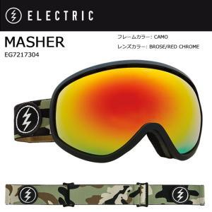 2018 ELECTRIC エレクトリック MASHER CAMO BROSE/RED CHROME CONTRAST EG7217304 【ゴーグル】アジアンフィット|snb-shop
