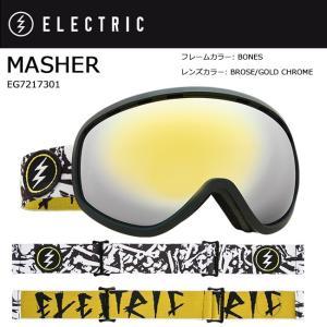 2018 ELECTRIC エレクトリック MASHER BONES BROSE/GOLD CHROME CONTRAST EG7217301 【ゴーグル】アジアンフィット|snb-shop