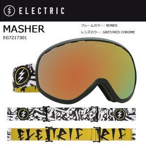 2018 ELECTRIC エレクトリック MASHER BONES GREY/RED CHROME JP EG7217301 【ゴーグル】アジアンフィット|snb-shop