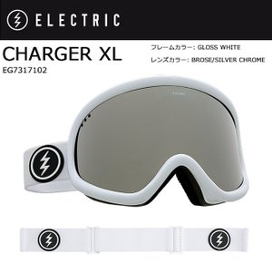 2018 ELECTRIC エレクトリック CHARGER XL GLOSS WHITE BROSE/SILVER CHROME CONTRAST EG7317102 【ゴーグル】アジアンフィット|snb-shop