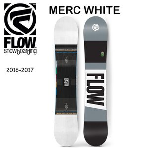 2017 FLOW フロー スノーボード MERC WHITE 【板】|snb-shop