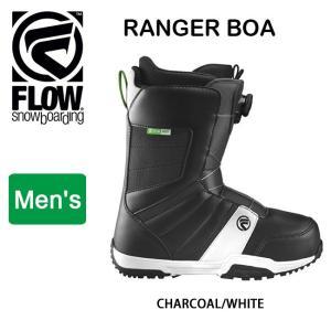 2018継続モデル FLOW フロー RANGER BOA  CHARCOAL/WHITE 【ブーツ】|snb-shop